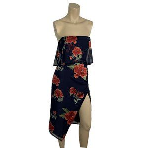 LOVERS + FRIENDS Dress XS NWT Strapless Floral